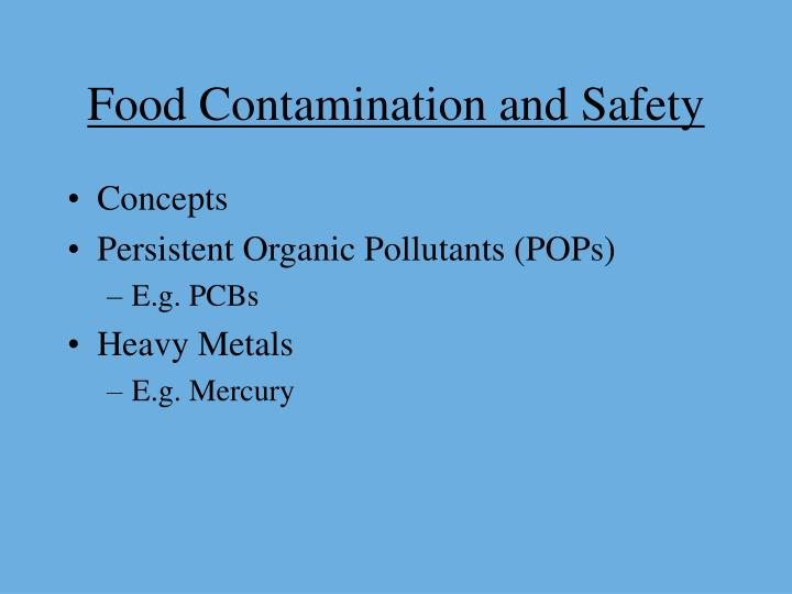 food contamination and safety n.