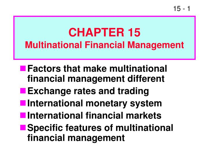 chapter 15 multinational financial management n.