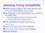 assessing timing compatibility