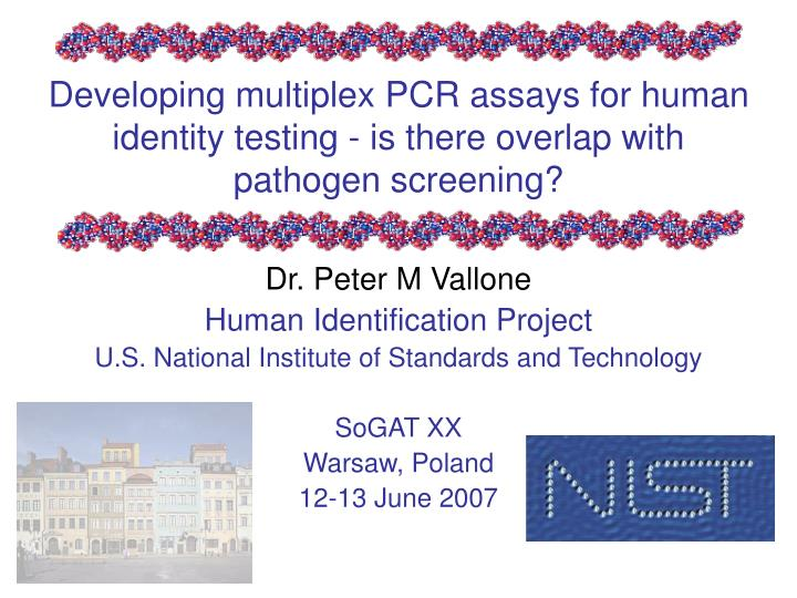 developing multiplex pcr assays for human identity testing is there overlap with pathogen screening n.