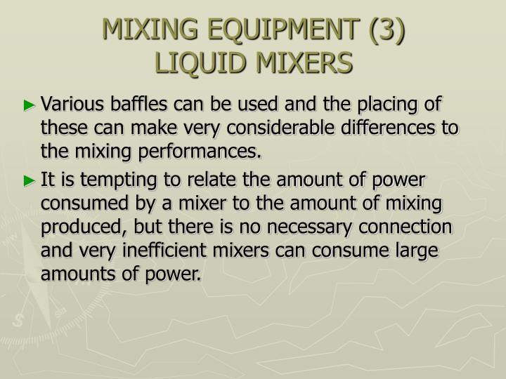 MIXING EQUIPMENT (3)