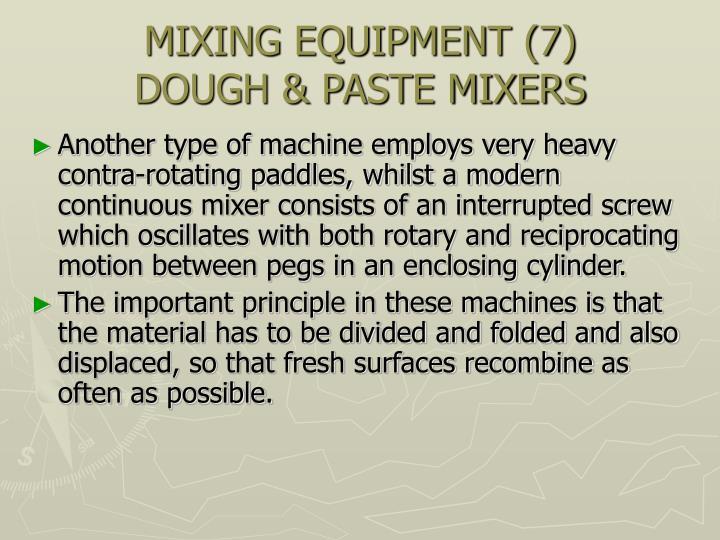 MIXING EQUIPMENT (7)