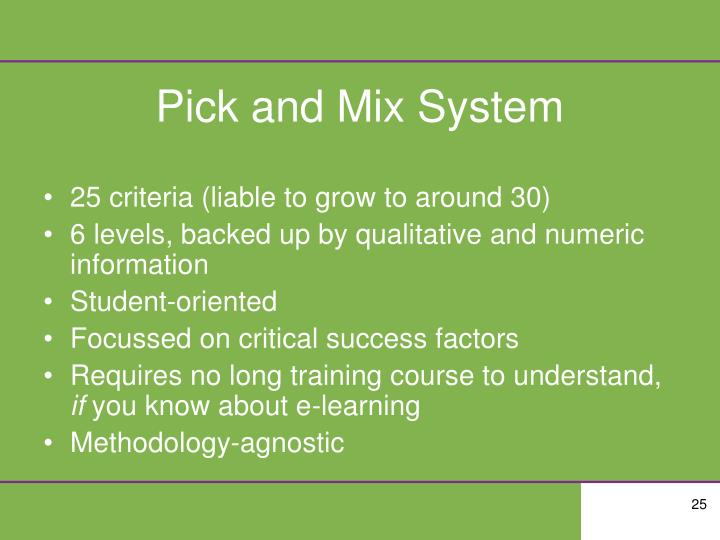 Pick and Mix System