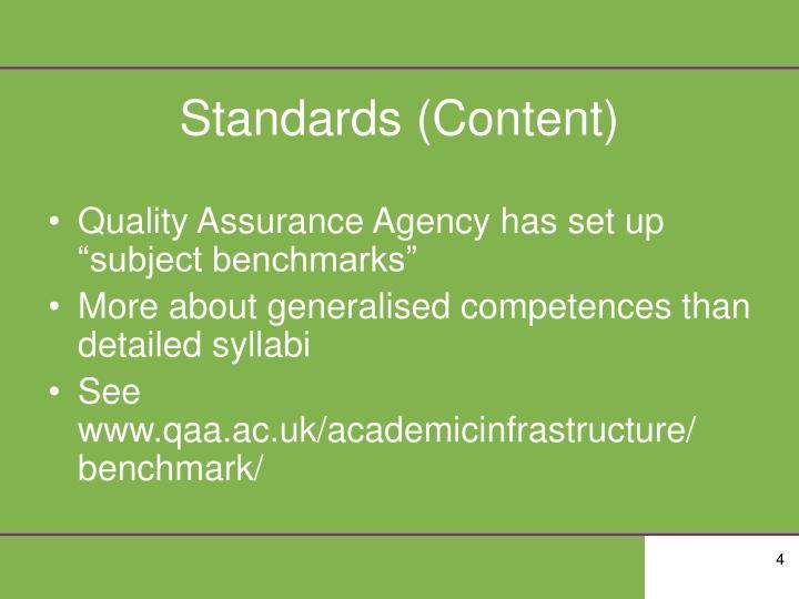 Standards (Content)