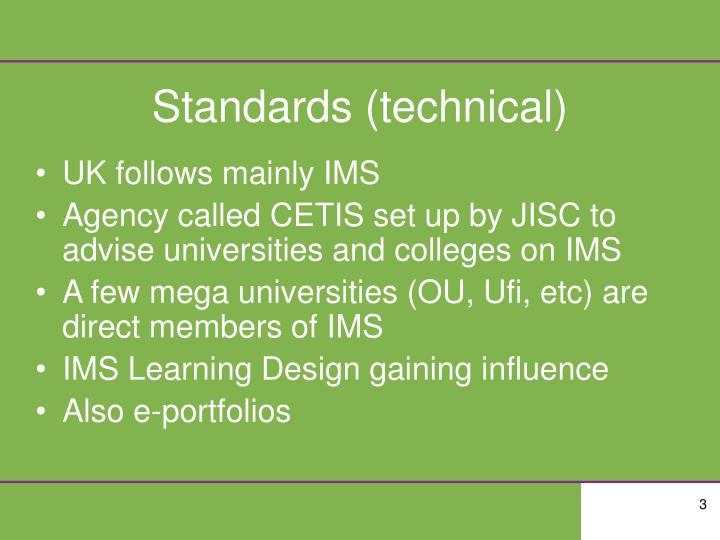 Standards technical