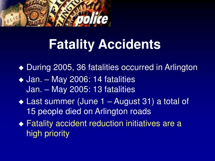 Fatality Accidents
