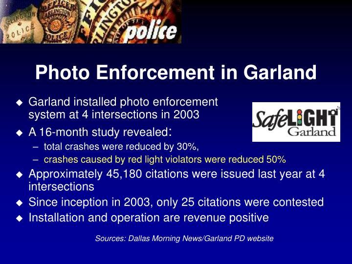Photo Enforcement in Garland