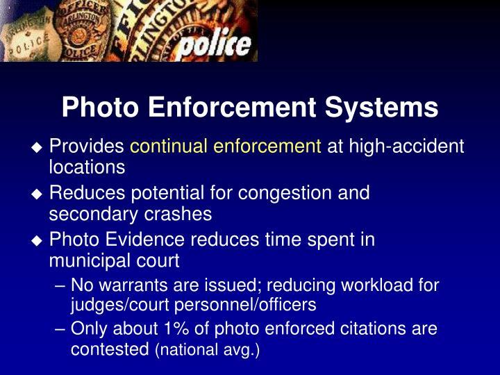 Photo Enforcement Systems