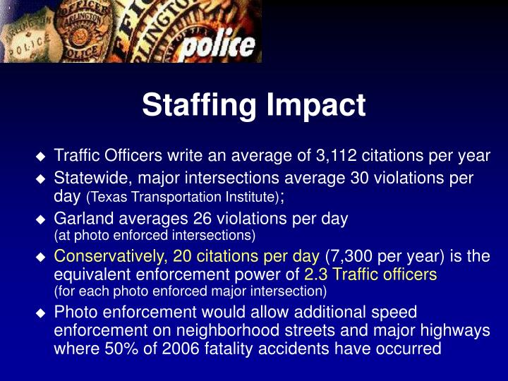 Staffing Impact