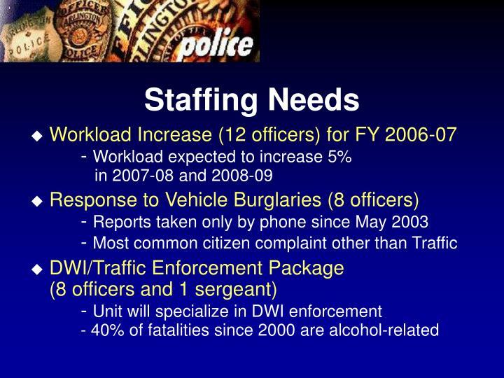 Staffing Needs
