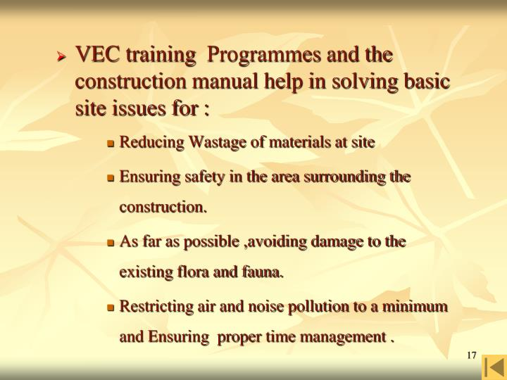 VEC training