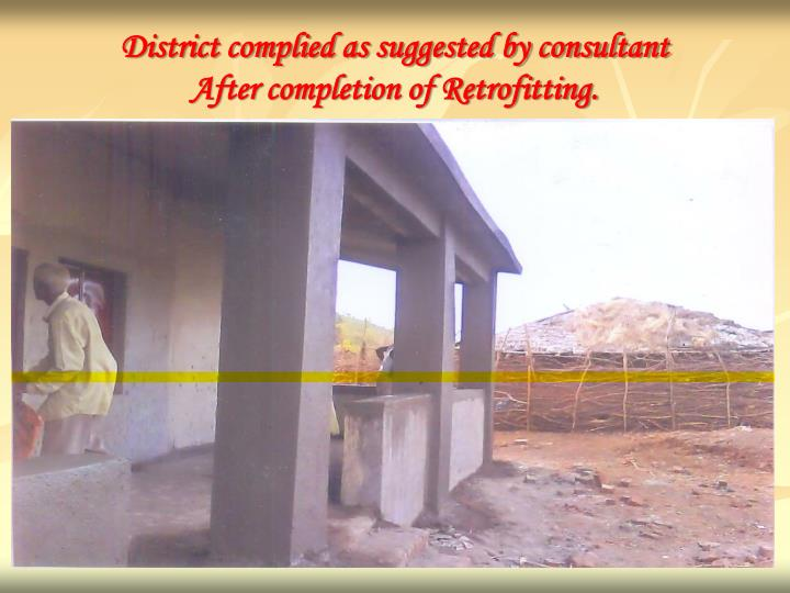 District complied as suggested by consultant