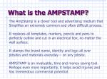 what is the ampstamp