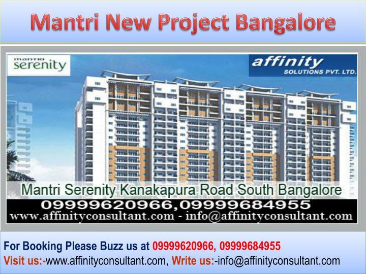 Mantri New Project Bangalore