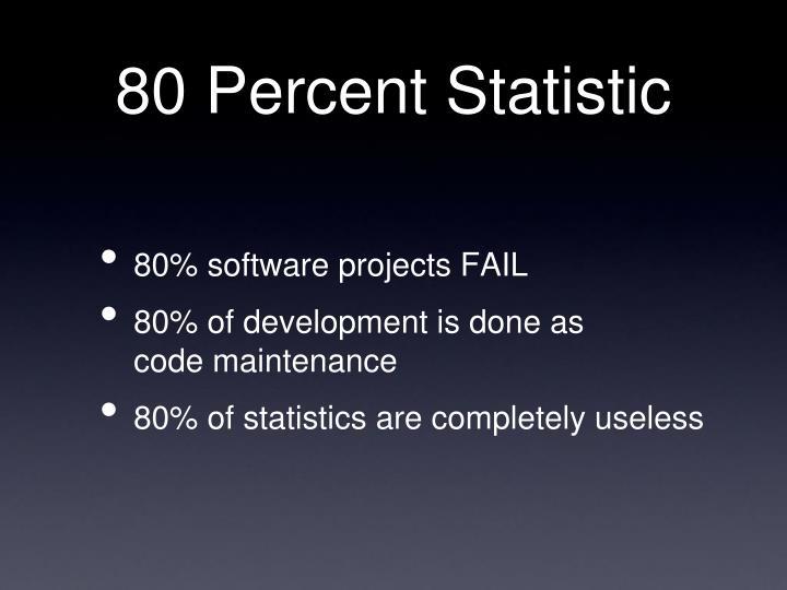 80 Percent Statistic
