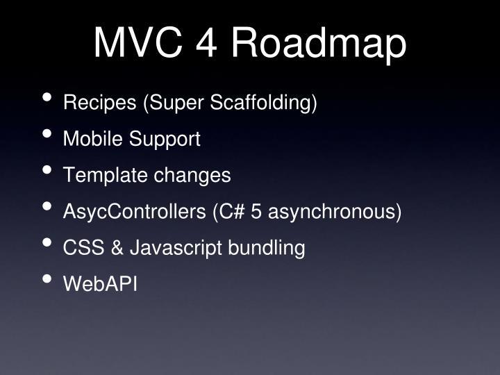 MVC 4 Roadmap