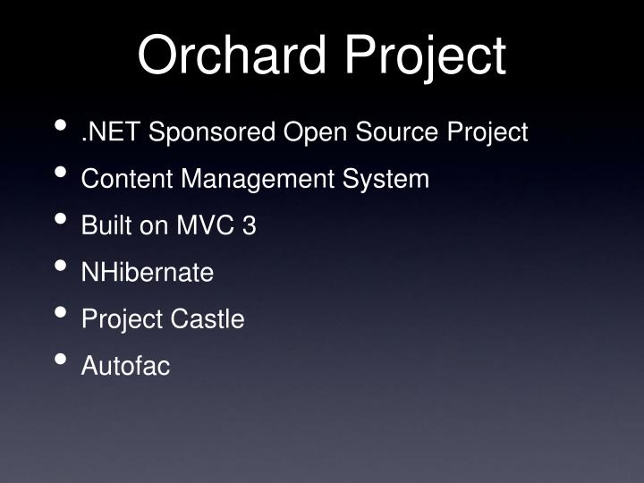 Orchard Project
