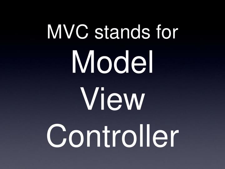 MVC stands for