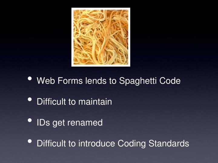 Web Forms lends