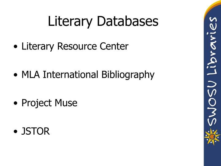 Literary Databases