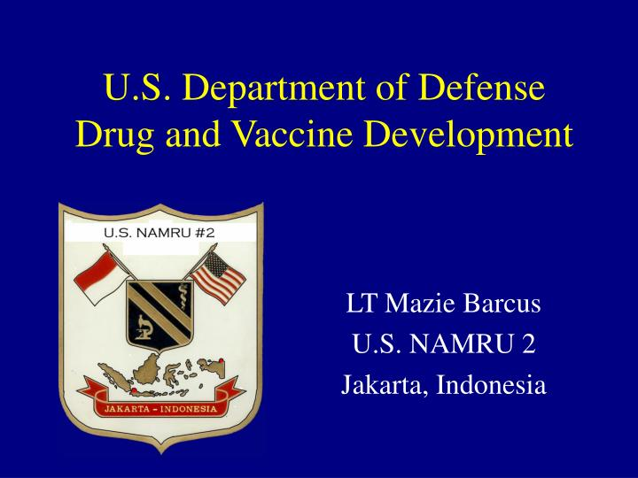 u s department of defense drug and vaccine development n.