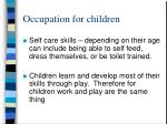 occupation for children