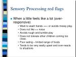 sensory processing red flags