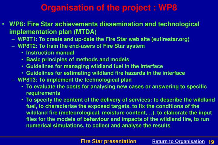 WP8: Fire Star achievements dissemination and technological implementation plan (MTDA)