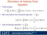 derivation of hartree fock equation2