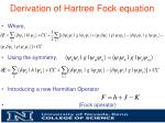 derivation of hartree fock equation4