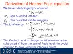 derivation of hartree fock equation7