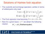 solutions of hartree fock equation2