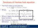 solutions of hartree fock equation3