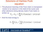 solutions of hartree fock equation4