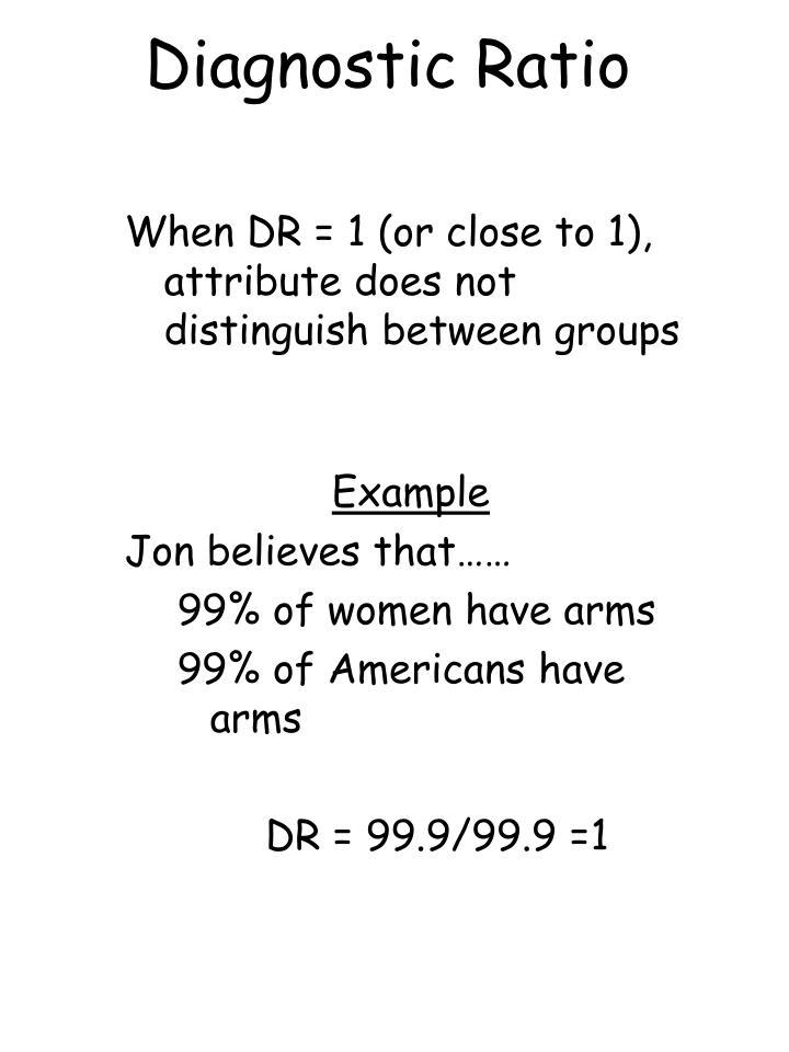Diagnostic Ratio