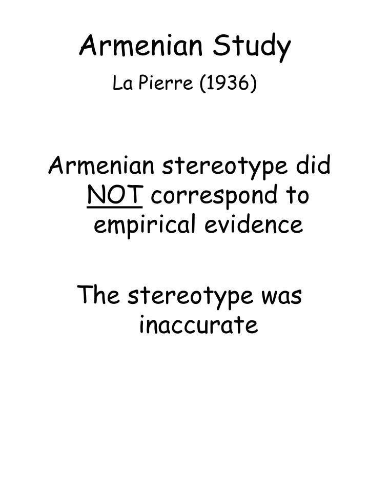 Armenian Study