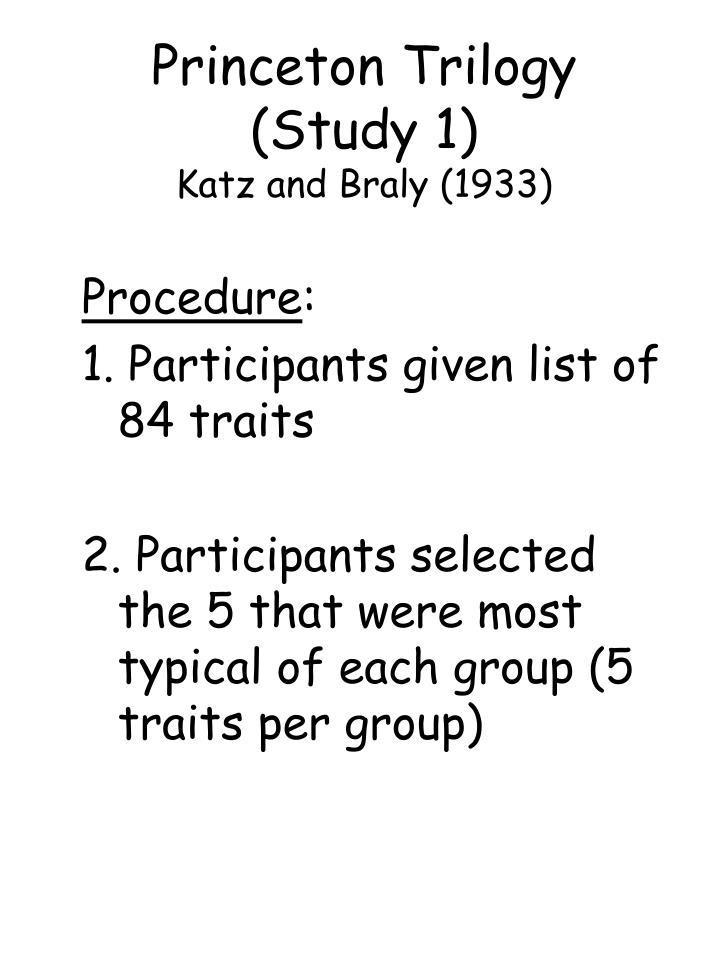 Princeton Trilogy (Study 1)