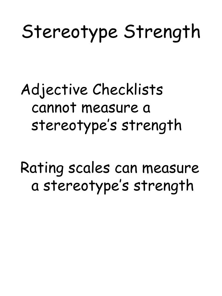 Stereotype Strength