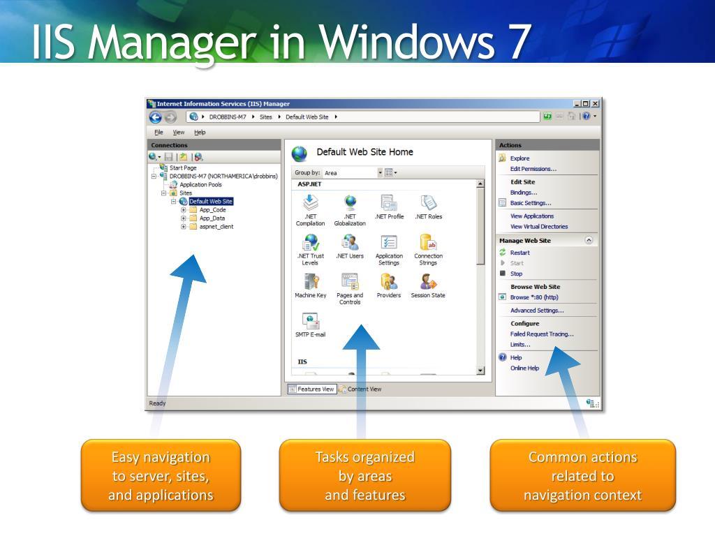 PPT - IIS in Windows 7 PowerPoint Presentation - ID:1303696