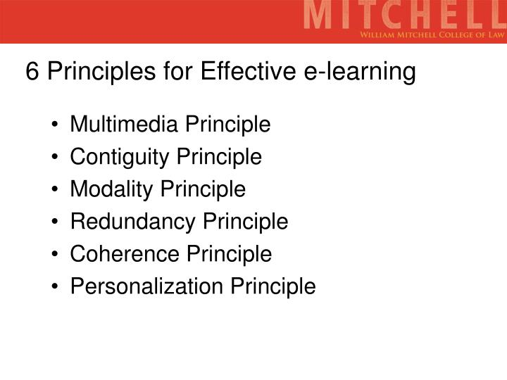 6 Principles for Effective e-learning