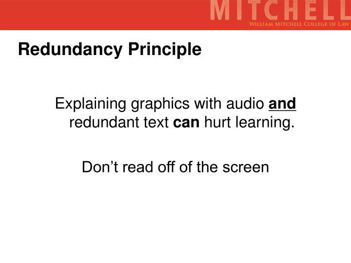 Redundancy Principle