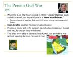 the persian gulf war 1990