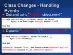 class changes handling events