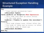 structured exception handling example