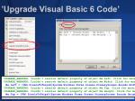 upgrade visual basic 6 code