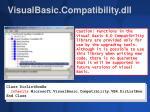 visualbasic compatibility dll