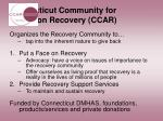 connecticut community for addiction recovery ccar