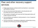 peer and other recovery support services1