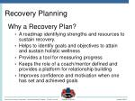 recovery planning