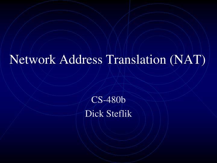 network address translation nat n.